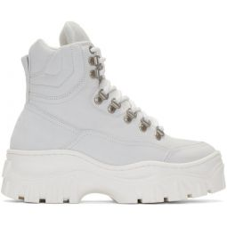 White Tractor Sneakers