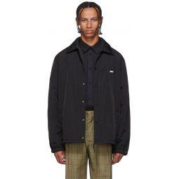 Black Nylon Patch Jacket