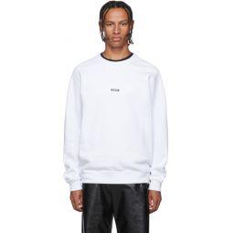 White Micro Logo Sweatshirt