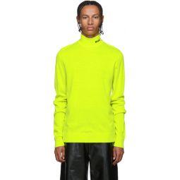 Yellow Fluorescent Turtleneck