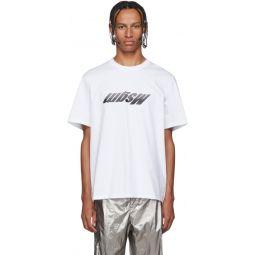 White Upturned Logo T-Shirt