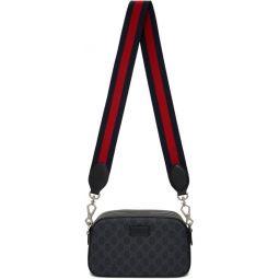 Black Small GG Supreme Camera Bag