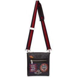 Black GG Supreme Courier Messenger Bag