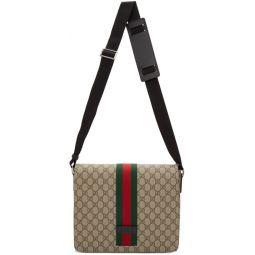 Beige GG Supreme Messenger Bag