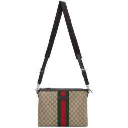 Beige Medium GG Supreme Messenger Bag