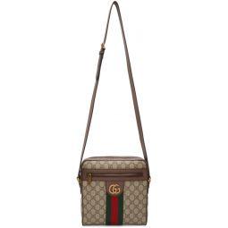 Beige GG Supreme Small Ophidia Messenger Bag