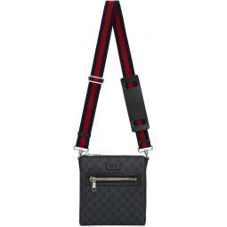 Black Small GG Supreme Messenger Bag
