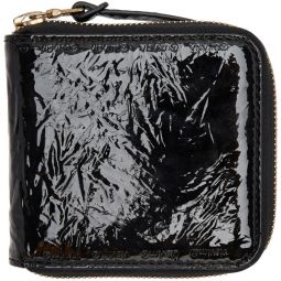 Black Folie Zip Wallet