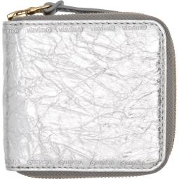 Silver Folie Zip Wallet