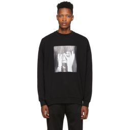 Black Scared Face Sweatshirt