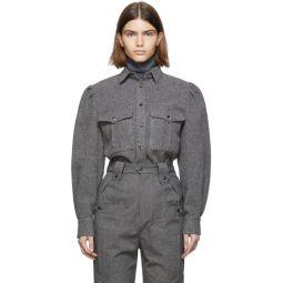 Grey Wool Florrie Pocket Shirt