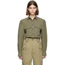 Green Wool Florrie Pocket Shirt