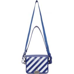 Blue & White Diag Flap Bag