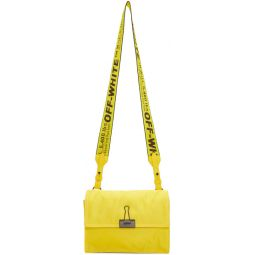 Yellow Nylon Zipped Flap Bag