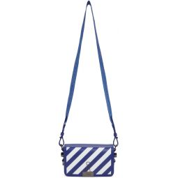 Blue & White Mini Diag Flap Bag