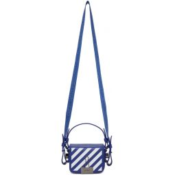 Blue Baby Diag Flap Bag