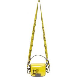Yellow Patent Baby Binder Clip Bag