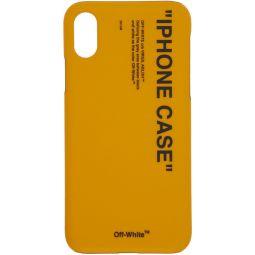 Yellow Quote iPhone X Case