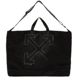 Black Unfinished Arrows Tote