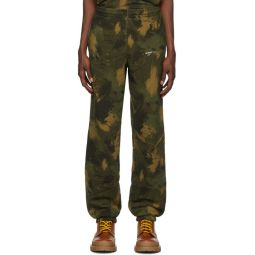 Green Paintbrush Camo Lounge Pants