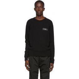 Black Logo Knit Crewneck Sweater