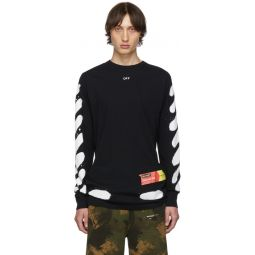 SSENSE Exclusive Black Incomplete Spray Paint Long Sleeve T-Shirt