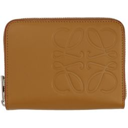 Tan Anagram Zip Wallet