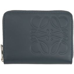 Blue Anagram Zip Wallet