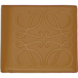 Tan Anagram Bifold Wallet