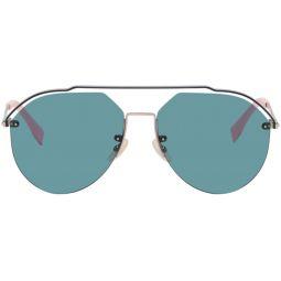Silver & Blue FF M0031/S Sunglasses
