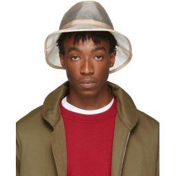 Beige Micro Mesh Bucket Hat