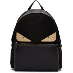 Black Leather Bag Bugs Backpack