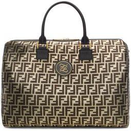 Black & Gold Forever Fendi Duffle Bag