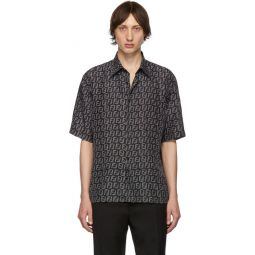 Black & Grey Forever Fendi Silk Shirt