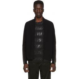 Black & Gold Forever Fendi Zip Up Sweater