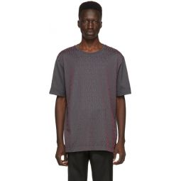 Grey & Pink Forever Fendi All Over Print T-Shirt
