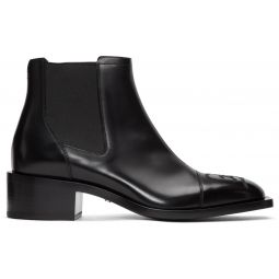 Black Karligraphy Chelsea Boots