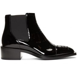 Black Patent Karligraphy Chelsea Boots