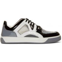 Grey Patent Fancy Sneakers