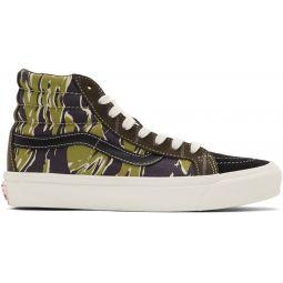 Black & Green Mixed Camo OG Sk8-Hi Sneakers