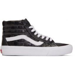 Black Checkerboard Leather Sk8-Hi Reissue VI Sneakers