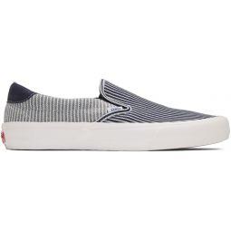 Navy & White Striped Mt Vernon Slip-On 59 Vault LX Sneakers