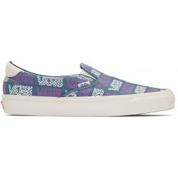 Blue & Purple Logo Checkerboard OG Slip-On 59 LX Sneakers