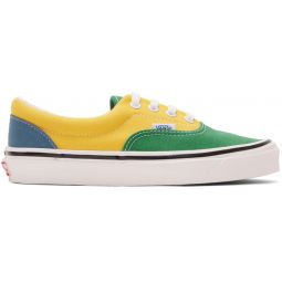 Green & Yellow Anaheim Factory Era 95 DX Sneakers