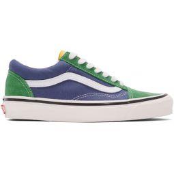 Green & Blue Anaheim Factory Old Skool 36 DX Sneakers