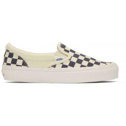 Navy OG Checkerboard Classic Slip-On Sneakers