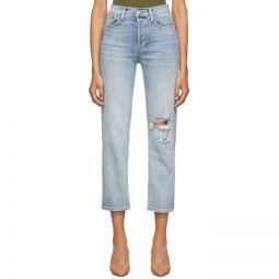 Blue Originals High-Rise Stove Pipe Jeans