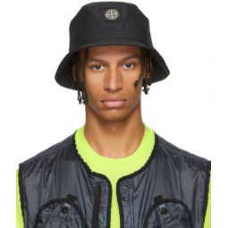 Black Reflective Weave Ripstop Bucket Hat