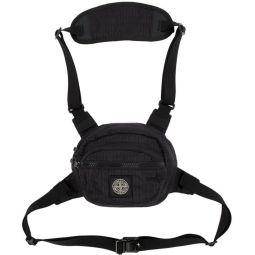 Black Reflective Weave Ripstop Bum Bag
