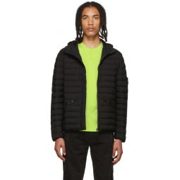 Black Down Hooded Puffer Jacket